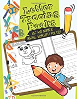 Letter tracing books: ABC and Numbers Tracing worksheet for kids