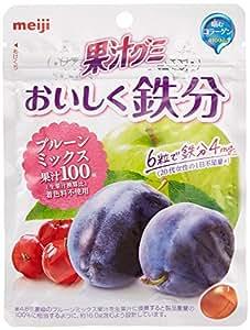 明治 果汁グミおいしく鉄分プルーンミックス 76g