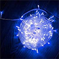 ブラインドライト33フィート100 LED防水ライト寝室室外照明ハロウィン感謝祭クリスマスパーティーの結婚式装飾(複数直列可能) (青)