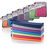 "SYOURSELF Microfiber Sports & Travel Towel-72 x32,60""x30"",40""x20"",32""x16""-Fast Dry,Lightweight,Absorbent,Compact,Soft-Perfect Beach Yoga Fitness Bath Camping Gym Towels+Travel Bag&Carabiner"