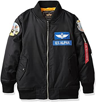 (アルファインダストリーズ)ALPHA INDUSTRIES INC KIDS MA-1 PATCH TA8023 001 BLACK 110
