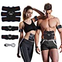 ems 腹筋 USB充電式ems 腹筋ベルト ボディフィット 筋トレマシン 筋肉 お腹 腕部 太ももエクササイズ用 ダイエット器具 超薄 静音 自動的に筋肉トレーニング 男女兼用 運動不足に向き