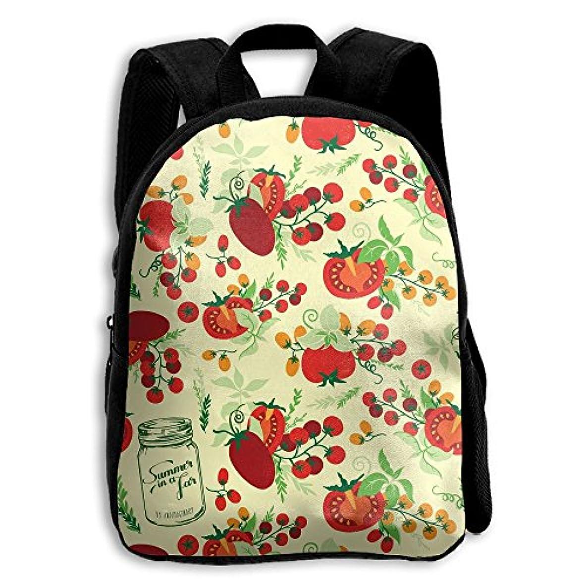 彼女の飼い慣らす音節キッズ バックパック 子供用 リュックサック 果物トマト ショルダー デイパック アウトドア 男の子 女の子 通学 旅行 遠足