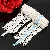 Bazaarビンテージかぎ針編み刺繍レースエッジリボン裁縫クラフトホーム結婚式パーティー装飾