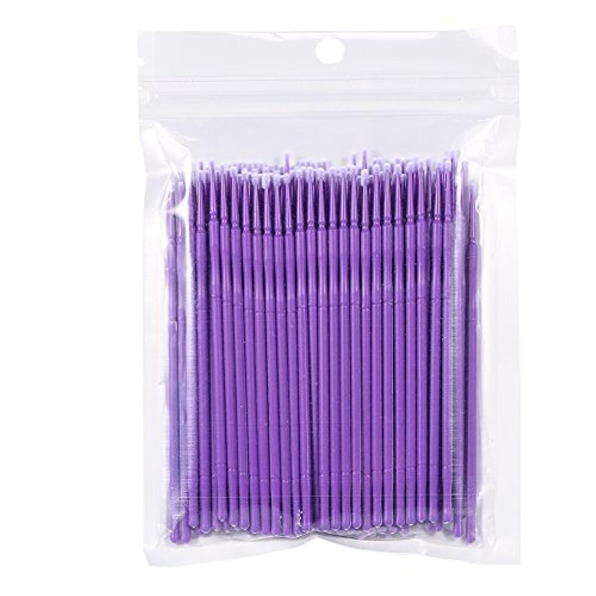 細菌粒期待する100PCS 使い捨て可能なまつげブラシ、まつ毛ブラシ 便利(紫色)