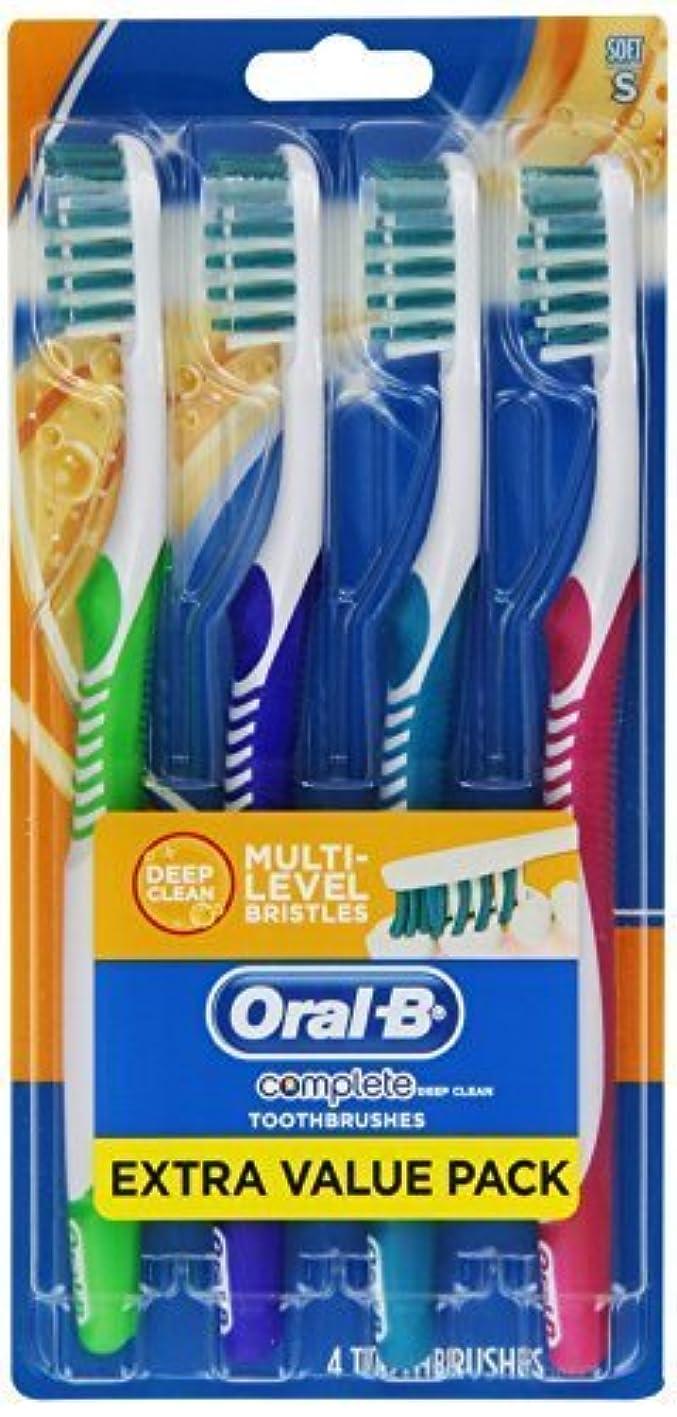 カビスパン破産Oral-B Complete Deep Clean Soft Bristles Toothbrush 4 Count by Oral-B [並行輸入品]
