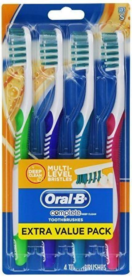 わなヒット塩Oral-B Complete Deep Clean Soft Bristles Toothbrush 4 Count by Oral-B [並行輸入品]