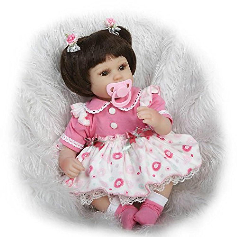 16インチ40 cmシリコンソフトビニールRebornベビー人形Lifelikeマグネットおしゃぶり子供赤ちゃん玩具布ボディ