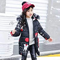 Children's Fur Girls Coat Russian Winter Jacket for Teenage Girls Warm Hooded Thick Cotton-Padded Long Korean Kids Clothes