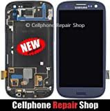For Samsung Galaxy S3 SGH-i747 T999 ~ Blue AMOLED LCD Touch Screen Display+Frame ~ Mobile Phone Repair Part Replacement [並行輸入品]