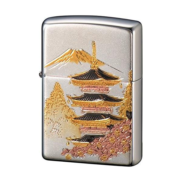 ZIPPO ライター 電鋳板 五重の塔 シルバーの商品画像