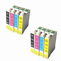 CAIDI EPSON エプソン IC4CL62 IC62 対応 4色 2セット プリンター対応 互換インク 残量表示ICチップ付 PX-204 PX-205 PX-403A PX-404A PX-434A PX-504A PX-605F PX-605FC3 PX-675F PX-675FC3