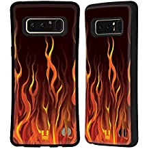Head Case Designs Inferno Hot Rod Flames Hybrid Case for Samsung Galaxy Note8 / Note 8