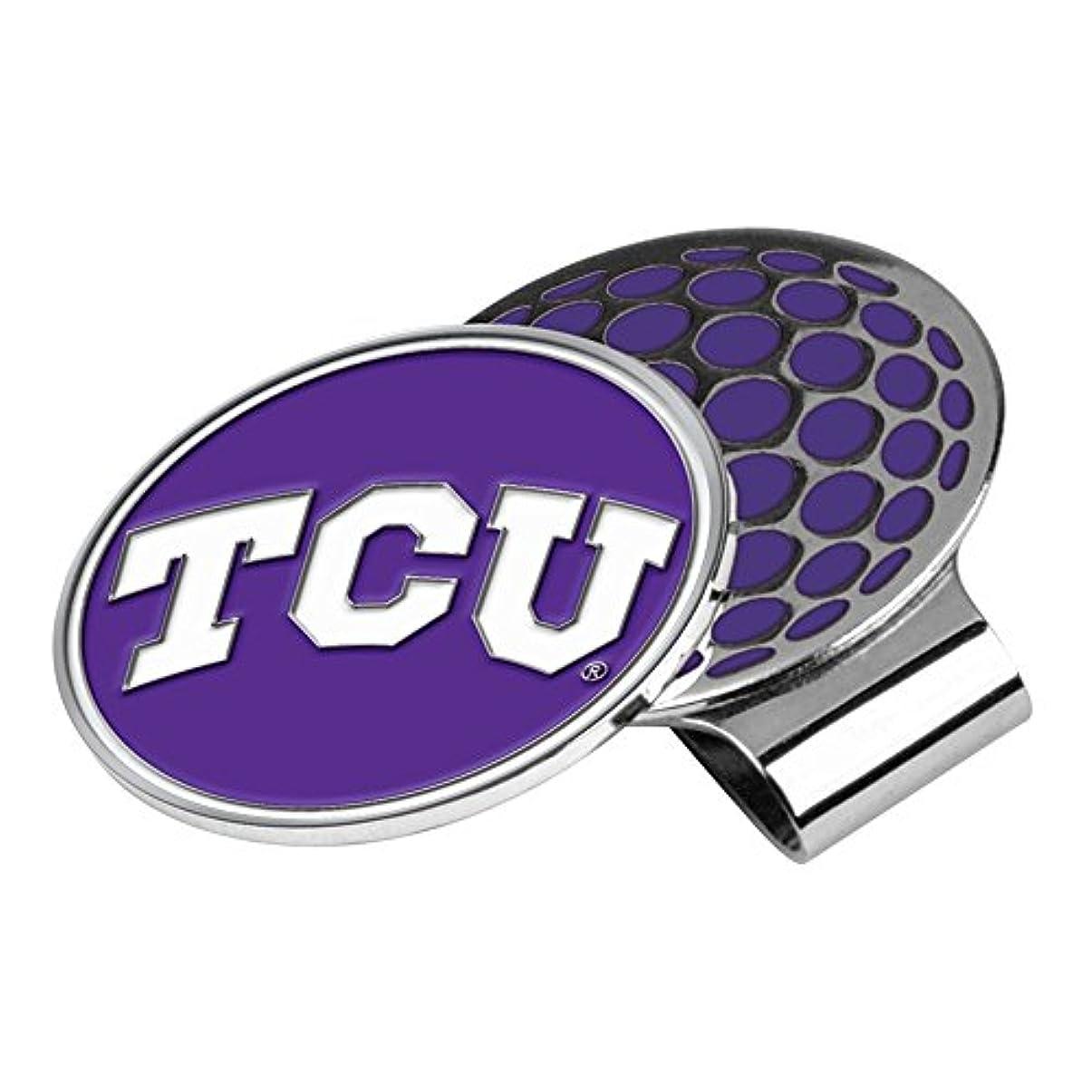 些細水分スポークスマンNCAA TCU Horned Frogsゴルフ帽子クリップとボールマーカー、1サイズ
