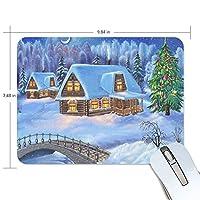 雪冬お正月橋 マウスパッド ゲーミングマウスパッド 19X25X0.5cm デスクマウスパッド 滑り止め 防水