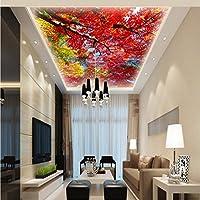 Xbwy カスタム3D壁紙カスタムマングローブ天頂壁画リビングルーム寝室ロビーラウンジ天井高品質壁紙-250X175Cm