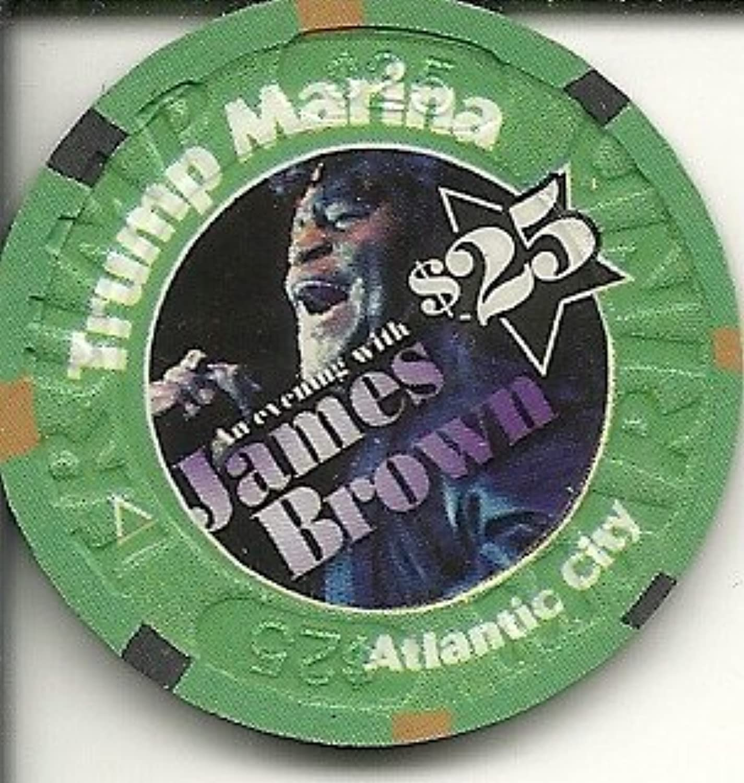 $ 25 Trump Marinaジェームズ?ブラウンSuper Rare Atlantic Cityカジノチップ
