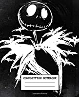 Composition Notebook: Composition Notebook Nightmare Before Christmas Jack Skellington Cute Drawing Photo Art Incredible Soft Glossy Wide Ruled Fantastic with Ruled Lined Paper for Taking Notes Writing Workbook for Teens and Children Students School Kids