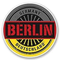 2 x 25cm ドイツ - ノートPCやタブレット用ビニールステッカー #6027