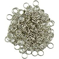 Lovoski 400pcs Silver Split Iron Double Jump Rings 6mm for Jewelry Making Bracelet Necklace