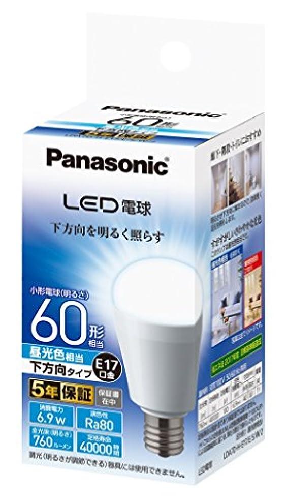 ラベヒール敬の念パナソニック LED電球 口金直径17mm 電球60W形相当 昼光色相当(6.9W) 小型電球?下方向タイプ 1個入 密閉形器具対応 LDA7DHE17ESW2