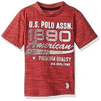 U.S. Polo Assn. Boys' Short Sleeve Crew Neck Graphic T-Shirt