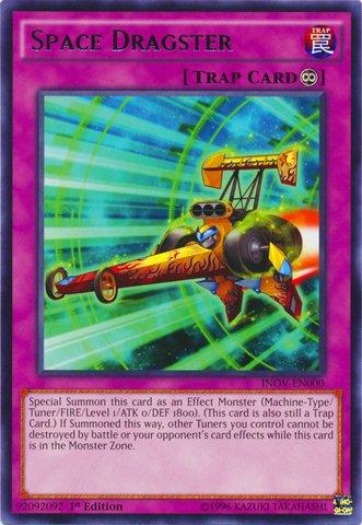 遊戯王 英語版 /Yu-Gi-Oh! - Space Dragster (INOV-EN000) - Invasion: Vengeance - 1st Edition - Rare