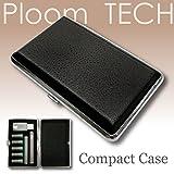 プルームテック ケース (シルバー) ハードケース PU レザー Ploom TECH PloomTECH ケース カバー スリム コンパクト シンプル 無地 合皮 電子タバコ 保護 収納 ポーチ ホルダー キャリングケース