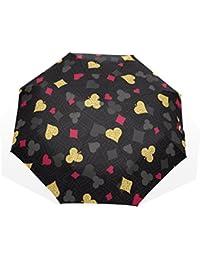 AOMOKI 折り畳み傘 折りたたみ傘 手開き 日傘 三つ折り 梅雨対策 晴雨兼用 UVカット 耐強風 8本骨 男女兼用 ポーカー ハート