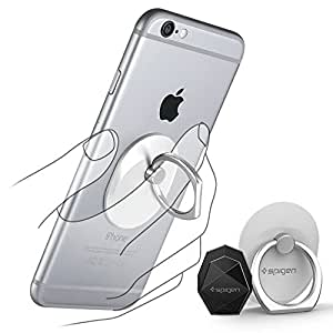 【Spigen】 スマホ リング, スタイルリング [ 落下防止 + スタンド機能 + 車載ホルダー ] iPhone SE / 6 / Plus / 6S / Galaxy S7 Edge / S7 / Note5 / Xperia Z5 / Z4 / Nexus 5X / 6P スマートフォン・タブレット 対応 ケース 使用可能 (スマホ リング, ホワイト)