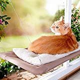 Ocamo Creative Window Mounted Cat Hammock with Suction Balcony Pet Bed Cushion Hanging Resting Seat L