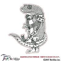強粘着・UVカット・防水ステッカー-リボン蜥蜴 (1.Sサイズ)