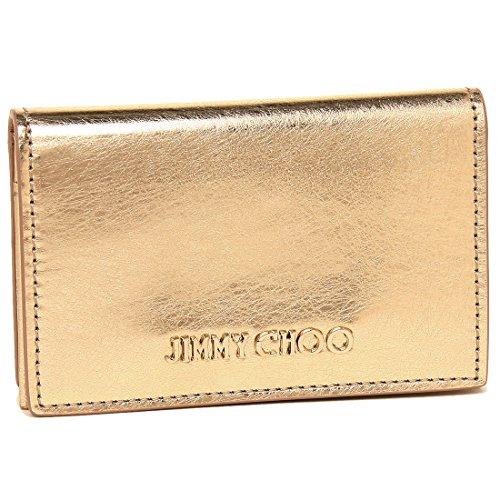 [ジミーチュウ]カードケース JIMMY CHOO NELLO ETZ GOLD レディース 名刺入れ 無地 GOLD 金 [並行輸入品]