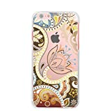 For docomo au softbank iPhone 5S ip5s ハードケース ケース カバー スマホケース クリアケース Clear Arts jiang 04 レトロフラワー 06-ip5s-ca0104