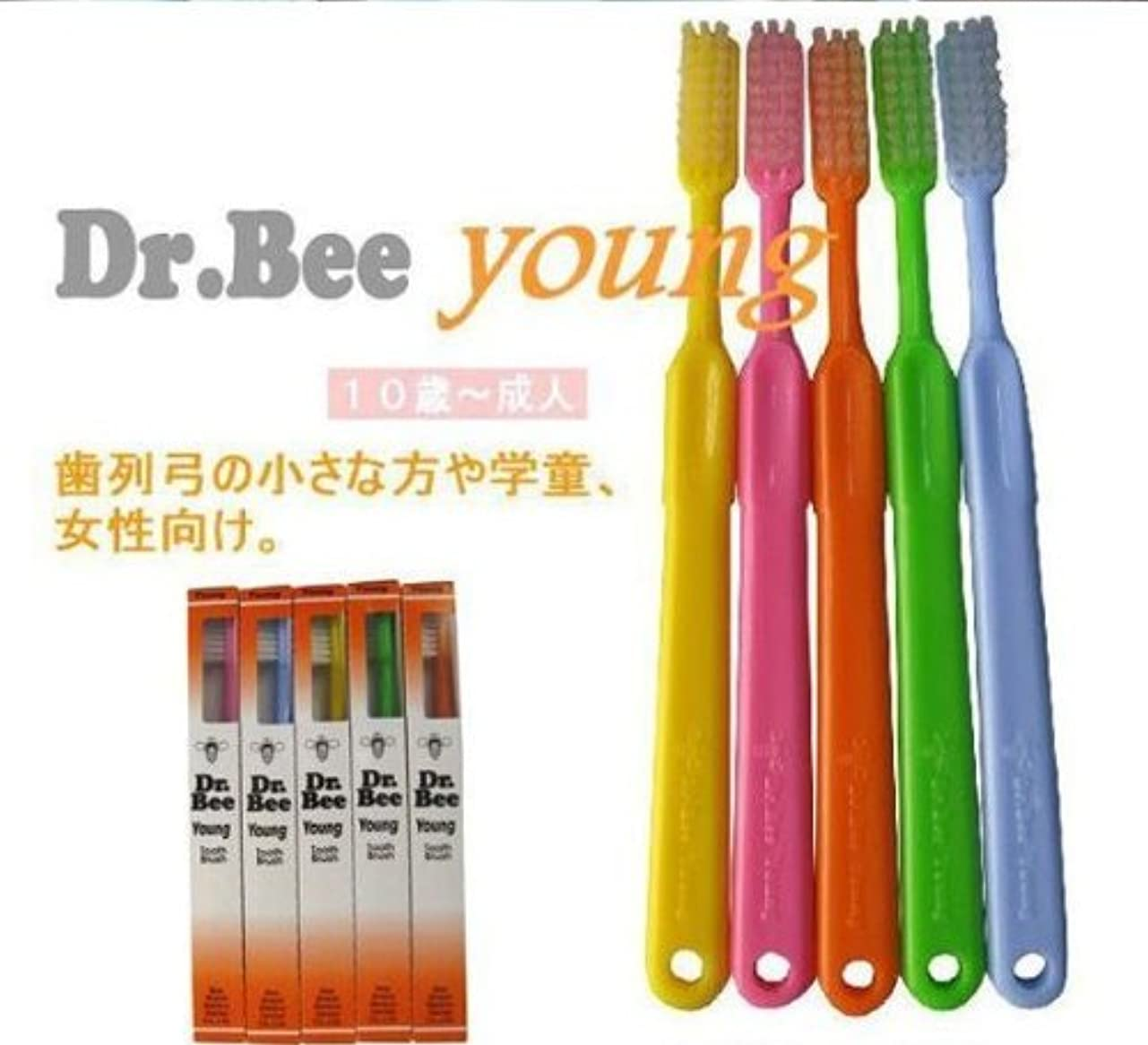 何故なの喪時計回りBeeBrand Dr.BEE 歯ブラシヤング かため