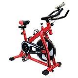 フィットネスバイク スピンバイク トレーニングバイク エクササイズバイク エアロバイク エクササイズ 室内用 サイクルトレーニング ルームバイク スピナーバイク スピニングバイク (レッド)