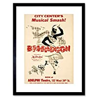 Advert Theatre Stage Musical Brigadoon Scottish Kilt Framed Wall Art Print 広告劇場ステージミュージカルスコットランド語壁