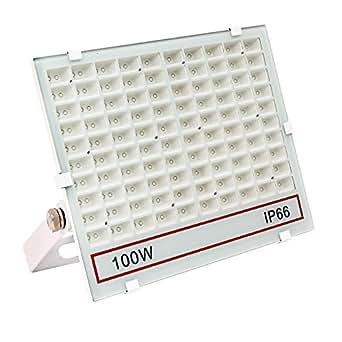 SAILUN LED 投光器 100W 1000W相当 LED投光器 昼光色 IP66 広角120度 ledライト LED投光機 看板灯 集魚灯 作業灯 舞台照明 屋内 屋外 照明 ポータブル投光器 防水加工 ACコード付