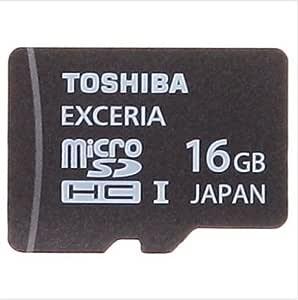 TOSHIBA(東芝) microSDHCカード (日本製) EXCERIA Class10 UHS-I対応 95MB/s 16GB 海外パッケージ品 SD-C16GR7WA3