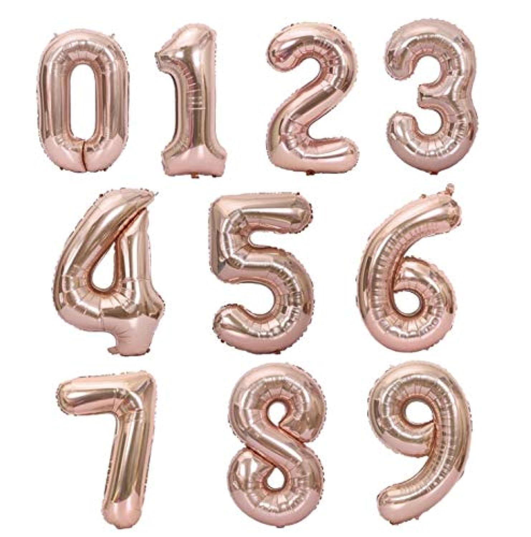 NANIWANOPANDA 浪速のパンダ 超ビッグ ピンクゴールド 数字 ナンバーバルーン 誕生日 バースデー インスタ映え SNS  (2)