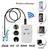 ワイヤレスWiFi接続Android、IOS携帯電話内視鏡、ワイヤレスカメラ2メガピクセル720P HD、防水IP67調整可能なLED 850mAh