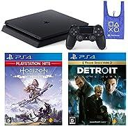 PlayStation 4 + Horizon Zero Dawn Complete Edition + Detroit: Become Human + オリジナルデザインエコバッグ セット (ジェット・ブラック) (C