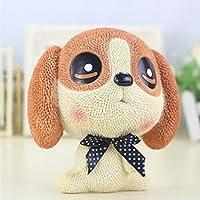 マネー バンク 新しい樹脂漫画犬のピギーバンククリエイティブ子供の誕生日プレゼントホームデコレーション(ブラウン)