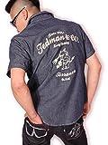(テッドマン) TEDMAN'S 刺繍 半袖ウエスタンシャツ TSHB-1400WS ネイビー M