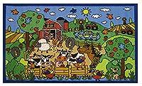 Fun Rugs Fun Time Happy Farm Novelty Rug 39 x 58 [並行輸入品]