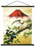 総柄 友禅和紙 タペストリー (初夢, 58×46cm) 一富士二鷹三茄子