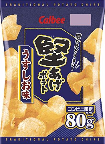 カルビー 堅あげポテトうすしお味 80g×12袋