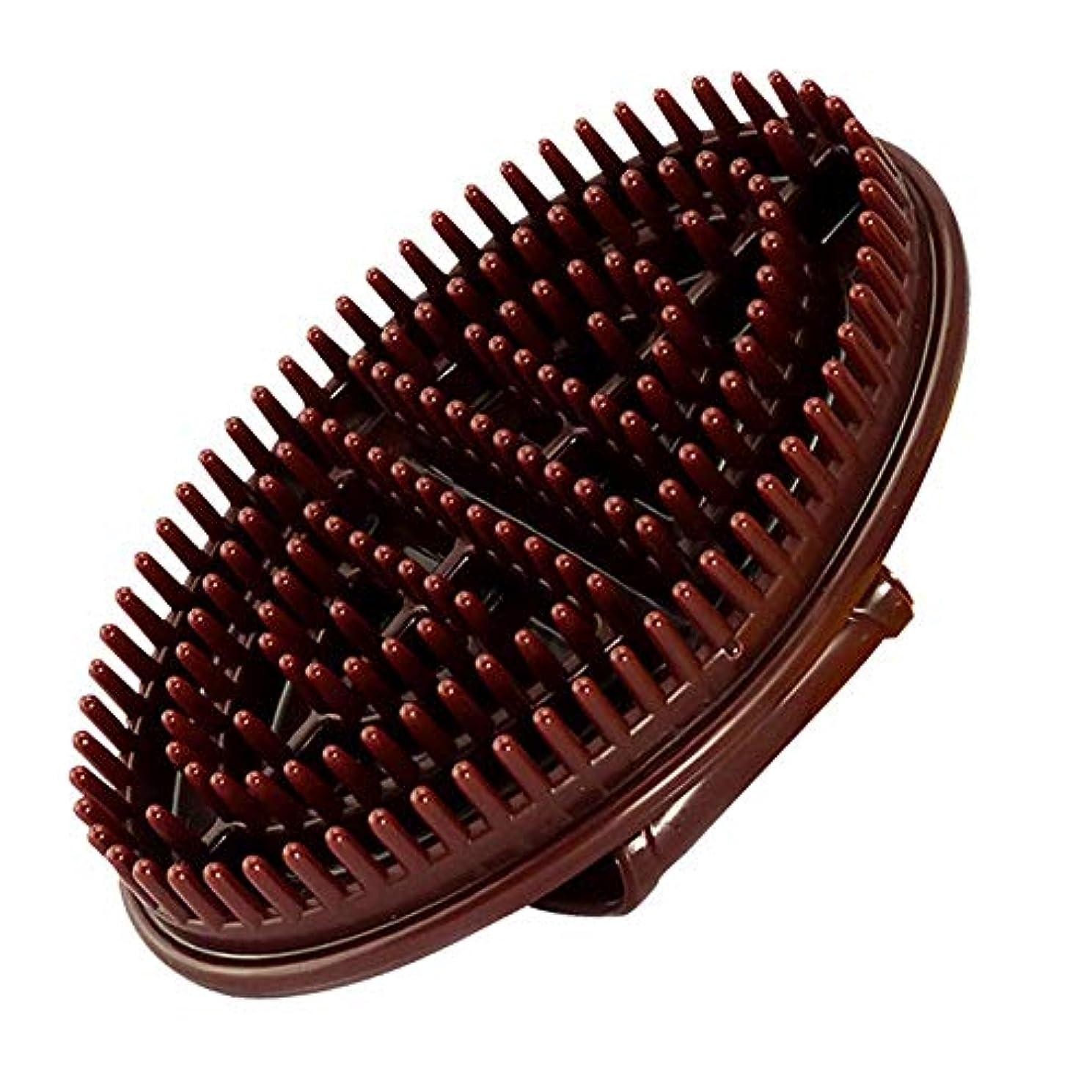 不条理不忠愛TPUマッサージブラシカッサボディのリンパマッサージブラシ Massage Brush Home Beauty Salon essential Oil Brush Live Rib Brush (褐色)