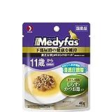メディファス スープパウチ 11歳から老齢猫用 しらす・かつお節入り 40g×12コ