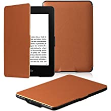 Amazon Kindle Paperwhite Case is the lightest and most advanced leather smart case for all versions before 2017 (not for all Paperwhite 10th generation 2018), Kindle with automatic wake/sleep function (brown)
